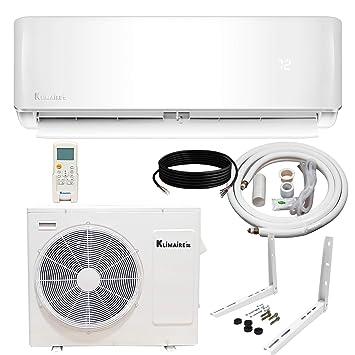 Klimaire 12,000 BTU 21.5 SEER Ductless Mini-Split Inverter Air Conditioner Heat Pump System with 15 ft Installation Kit (115 Volt) Wi-Fi Ready