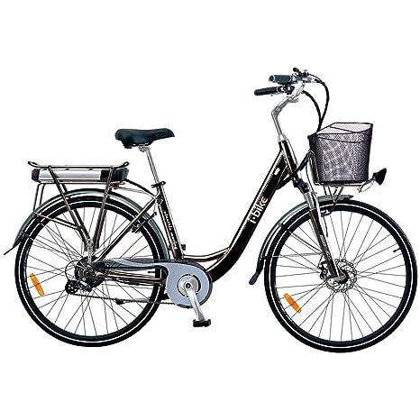 ibike bicicletta  i-Bike City 1d Bicicletta Elettrica con Pedalata Assistita, Nero, 28 ...