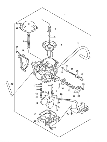 Amazon com: Carburetor for Suzuki Vinson 500 LTF500F 2005
