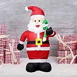 Scdincier - Figura de Papá Noel Hinchable (1,8 m, LED, para ...