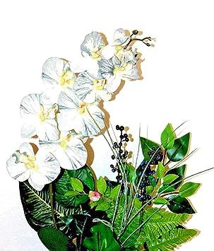 Amazon De Tatjana Land Deko Orchideen Im Topf Kunstblume Tischdeko