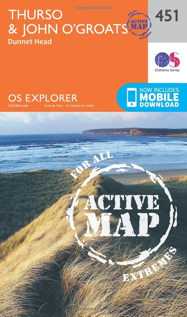 Read Online Thurso and John O'Groats (OS Explorer Active Map) PDF