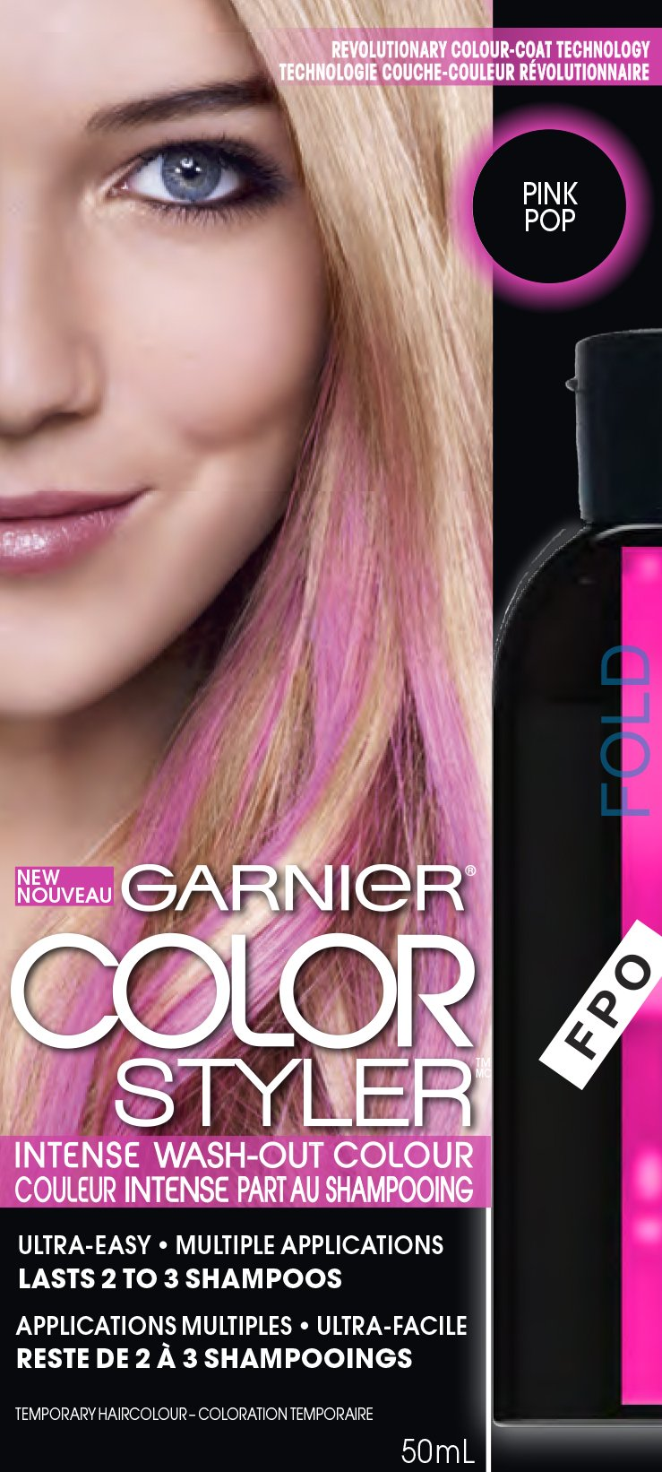 Amazon.com : Garnier Hair Color Color Styler Intense Wash-Out Color ...