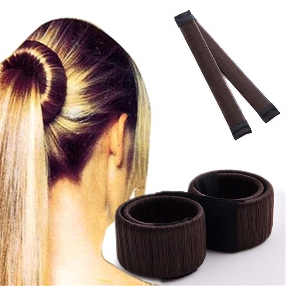 DIY Women Hair Accessory Ladies Foam Hair Band Wrap Styling Tool light brown by HAHUHERT (Image #4)