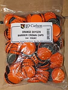 Orange Oxygen Barrier Crown Caps 144 ct