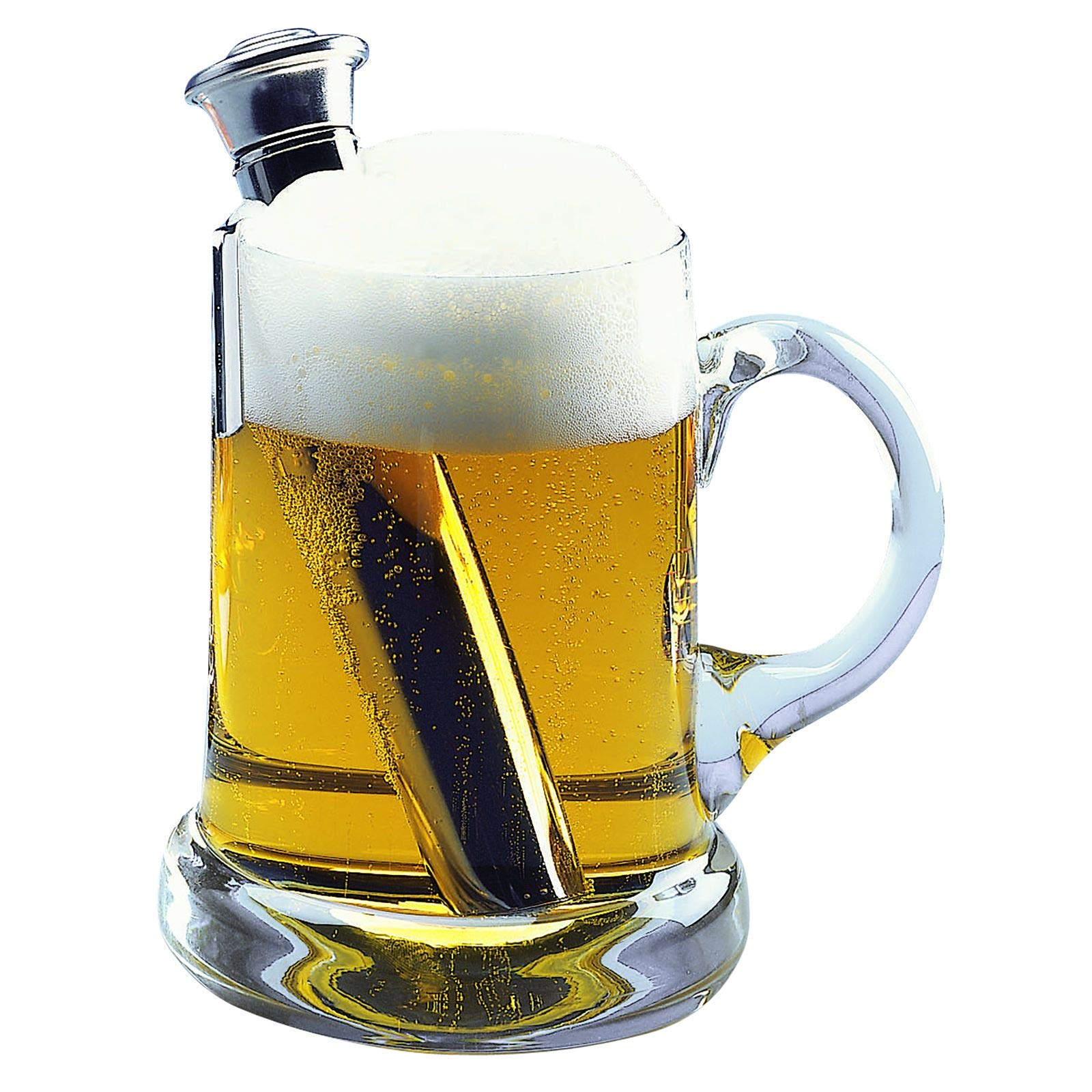 """Westmark 63282260 Beer Warmer/Cooler, Approx 6.3"""" tall by 2"""" wide, Stainless Steel"""