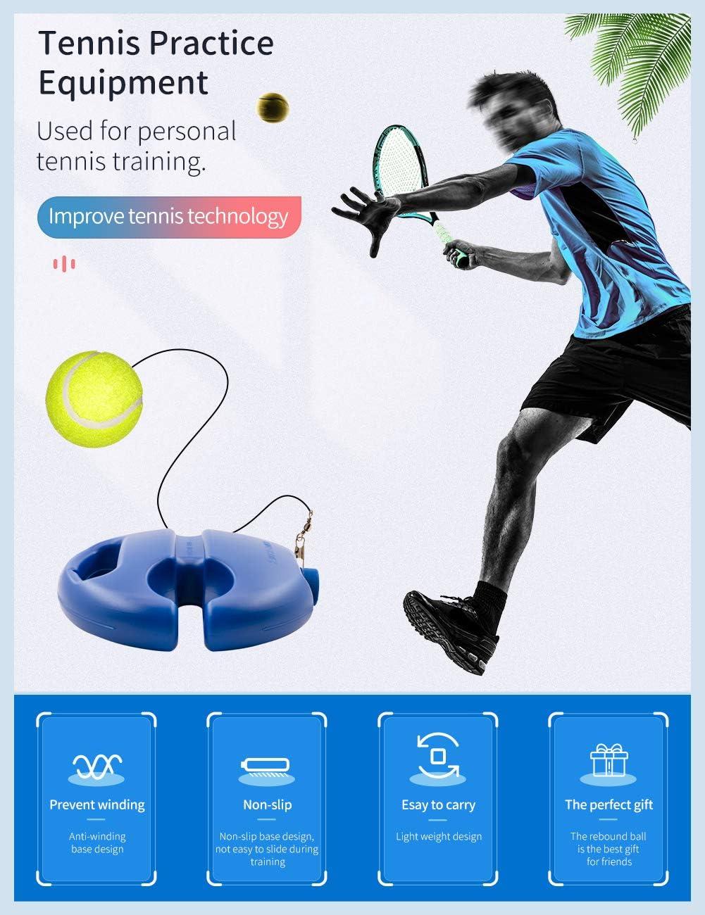 Tennis Trainer Base Self-Study Practice Strumento di Formazione Giocatore Singolo Tennis Trainer Autoapprendimento Rimbalzante Tennis Sparring Dispositivo