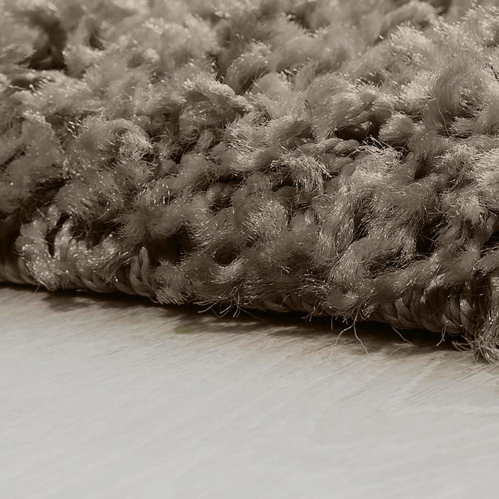 Alfombra Shaggy De Pelo Alto Y Largo Gran Espesor del Hilo En Gris Brillante Liso tama/ño:60x100 cm