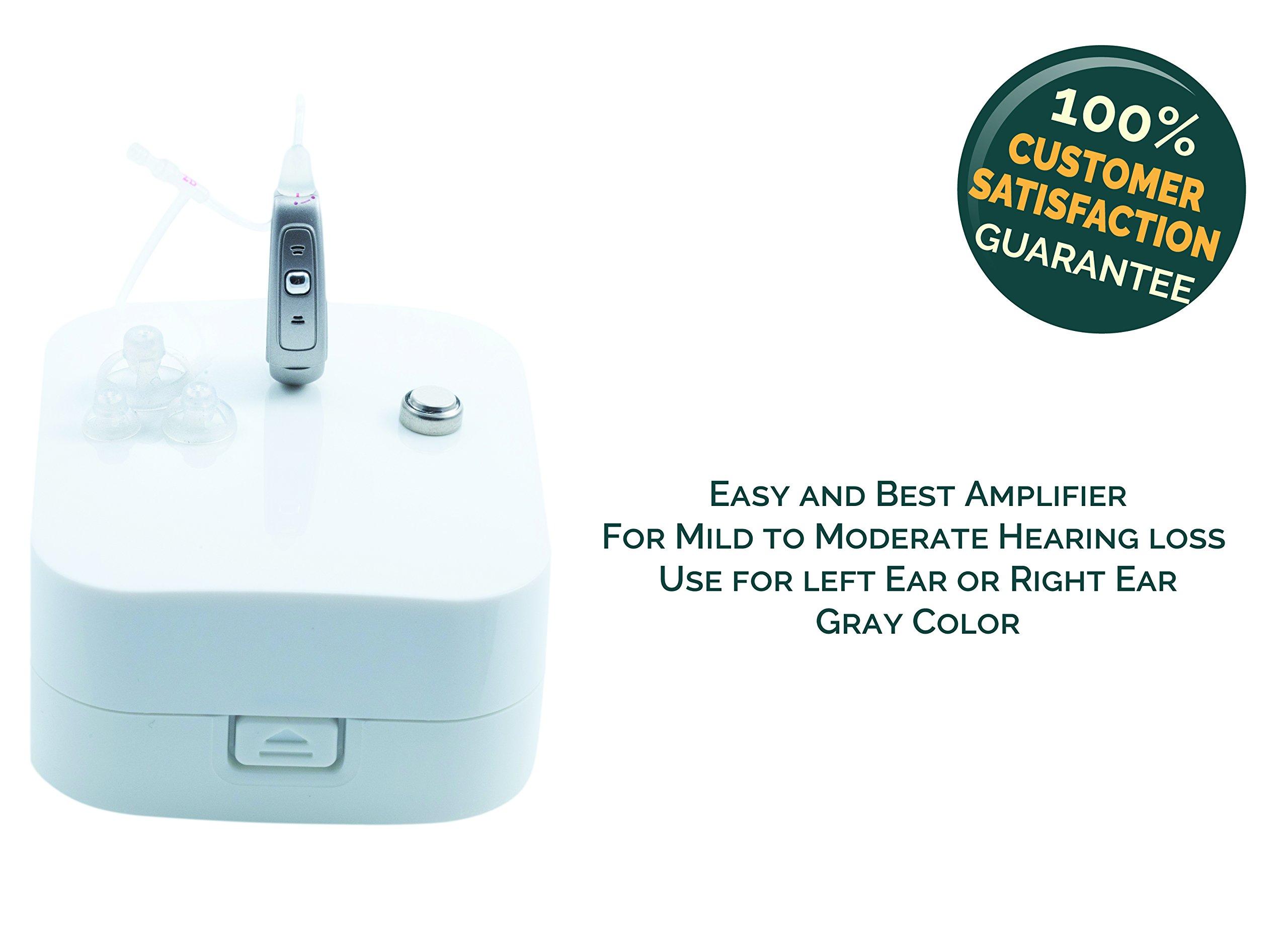 Sentire Med Model SP-Micro 100 Series / Programmable Hearing Amplifier / Premier Digital Listening Sound Amplification Device (Grey)