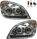 Headlight 2008-2015 with LED Strip at Bottom Driver and Passenger Side (Fit: Freightliner Cascadia)