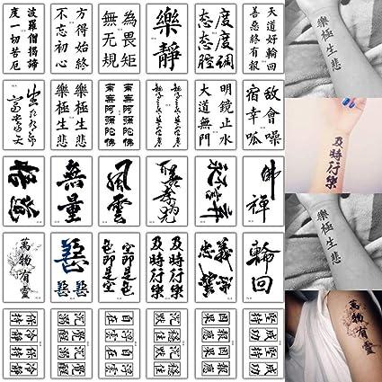 9 piezas etiqueta engomada del tatuaje a prueba de agua etiqueta ...