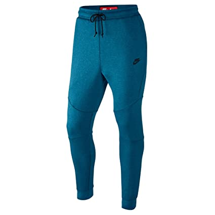 132afd9611b3 Image Unavailable. Image not available for. Color  Nike Sportswear Tech  Fleece Mens Blue Black Joggers Slim ...