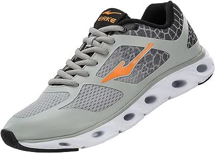ERKE – Zapatillas de Running Transpirable Hombres 51116103086, Hombre, Gris y Naranja: Amazon.es: Deportes y aire libre
