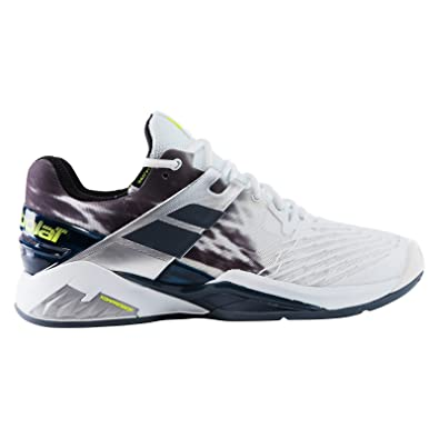 Babolat Propulse Fury Clay Mens Tennis Shoes White/Black (11.5)