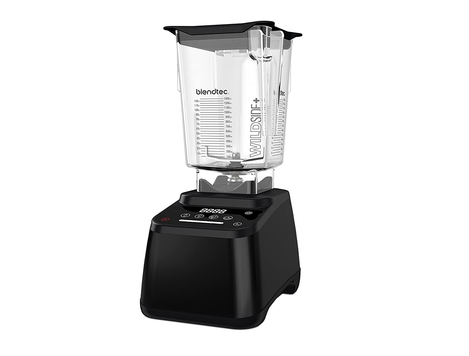 Blendtec Designer 625 Blender - WildSide+ Jar (90 oz) - Professional-Grade Power - 4 Pre-Programmed Cycles - 6-Speeds - Renewed - Black