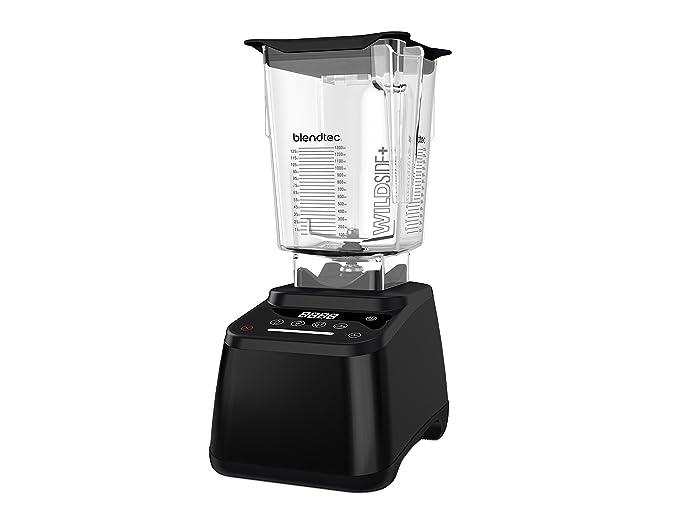 Blendtec Designer 625 Blender - WildSide+ Jar (90 oz) - Professional-Grade Power - 4 Pre-Programmed Cycles - 6-Speeds - Renewed - Black