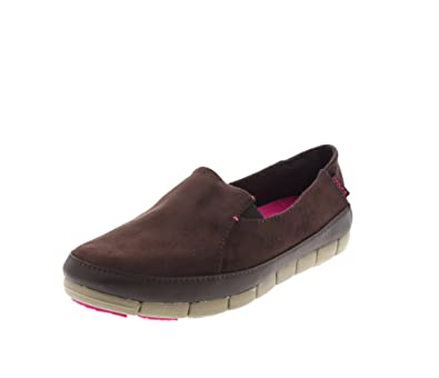 606f599764f Crocs Shoes - Stretch Sole Micro Suede Loafer Mahogany