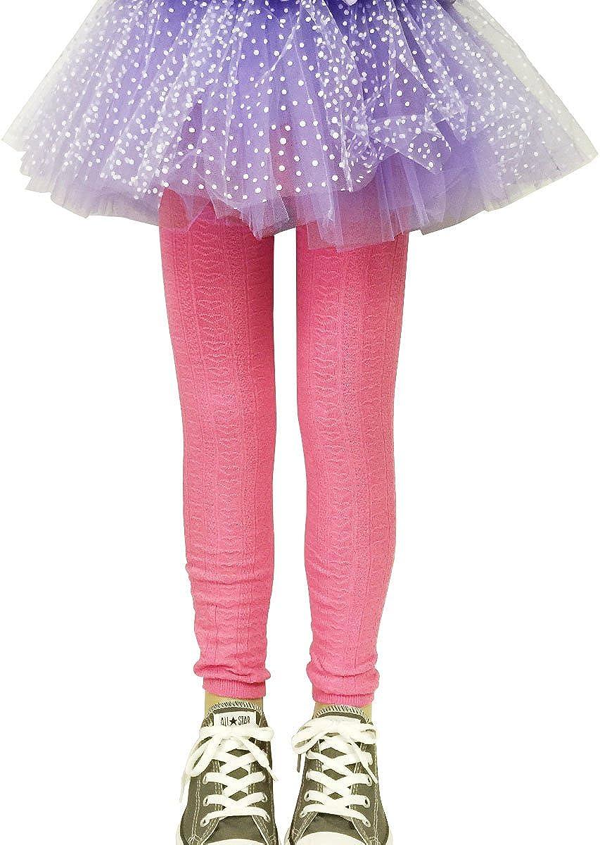 Bowbear 2-Pair Girls Heart Shaped Knitted Cotton Leggings
