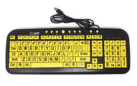 804c2146014 Amazon.com: 2CT6074 - DataCal Ezsee Low Vision Keyboard Large Print ...