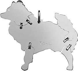 SPITZ Hunde Tier-Anhänger Medium 925 Sterling Silber Charm Schmuck 053CM