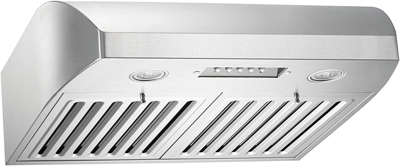 KOBE CHX2236SQB-1 Brillia 36-inch Under Cabinet Range Hood, 3-Speed, 680 CFM, LED Lights, Baffle Filters