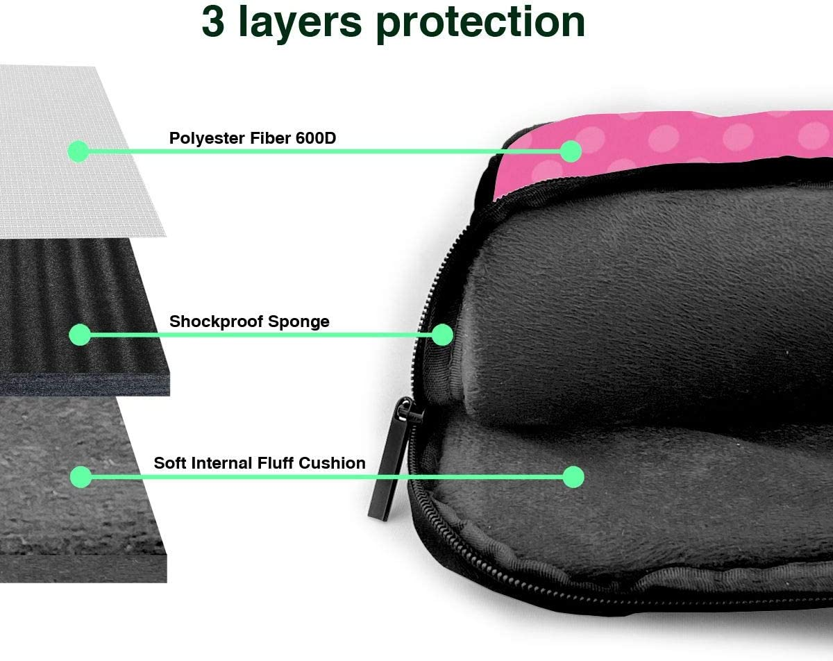 Laptop Bag Love Pink Original Stylish Shockproof Water-Resistant Carrying Briefcase Sleeve Computer Case with Shoulder Strap for Most 11.6-14 Inch Laptops Tablets Ultrabooks