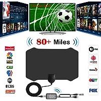 Antenne TV, Firmrock 80 Miles Antenne HDTV numérique avec amplificateur Amplificateur de Signal TV Radio Antenne Surf Fox Antennes TV HD