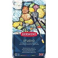Derwent Studıo Serisi Kuru Kalem Seti - 12 Renk Metal Kutulu