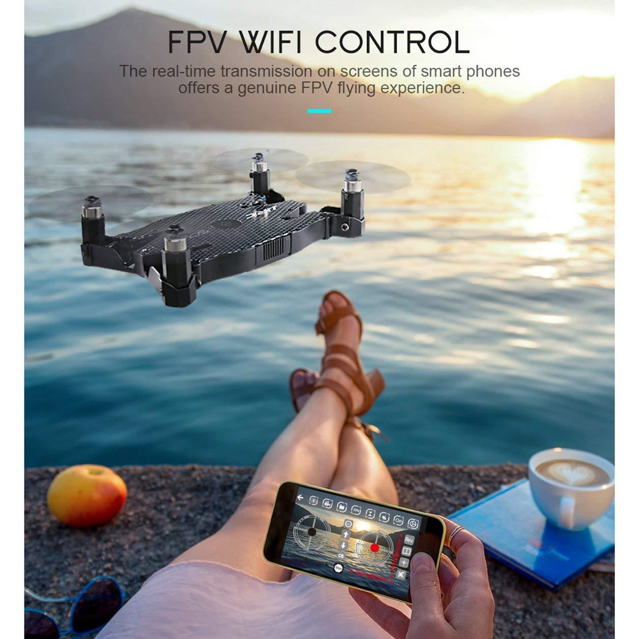 Dailyinshop JJR / C H49 WiFi FPV 720 P Kamera Ultradünne Faltbare Mini Höhe Halten Drohne (Farbe: Schwarz)