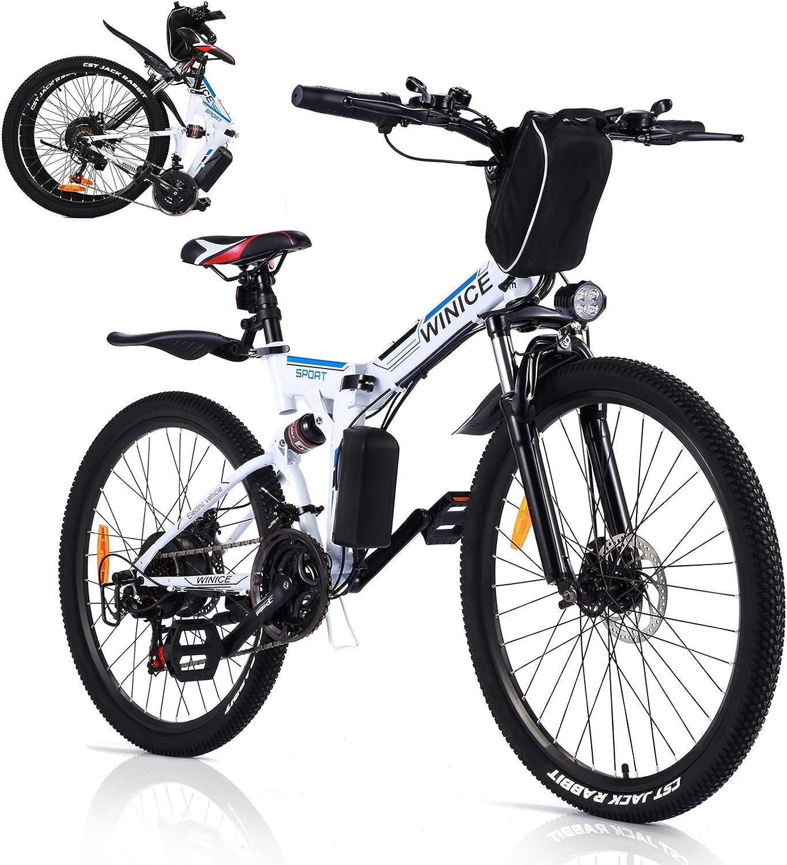 Vivi Bicicleta Eléctrica Plegable, 350 W Motor para Bicicleta De Montaña Eléctrica para Adultos, 26 Pulgadas E-Bike, Engranaje De 21 Velocidad De Shimano