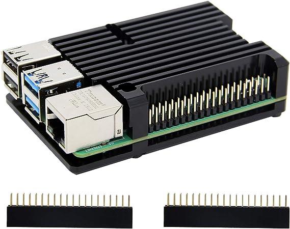 Geekworm Raspberry Pi 4 Model B Gehäuse Rüstung Computer Zubehör