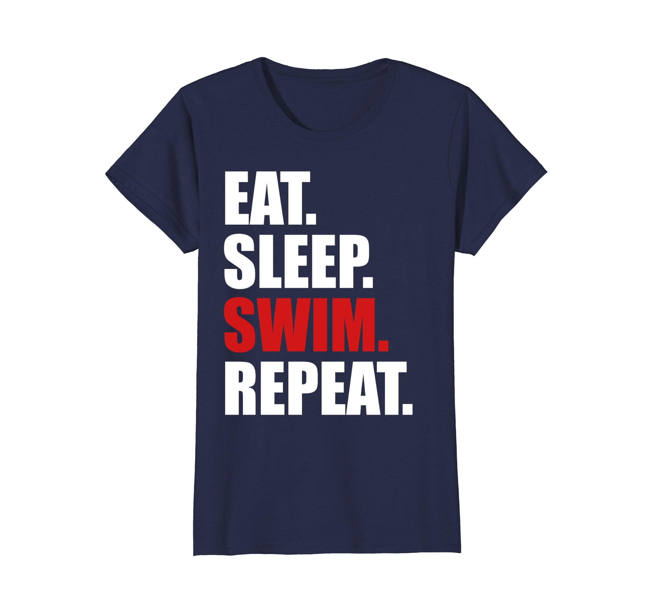Womens Eat Sleep Swim T-Shirt for Mens Womens Swimming Boys Toddler Small Navy