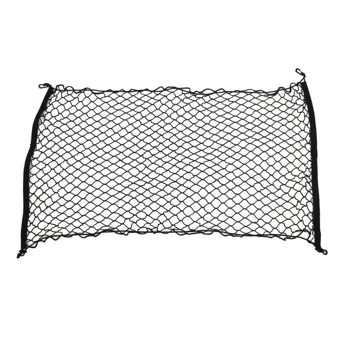 uxcell Car Black Nylon Luggage Cargo Net Holder Elastic Storage 120cm x 70cm