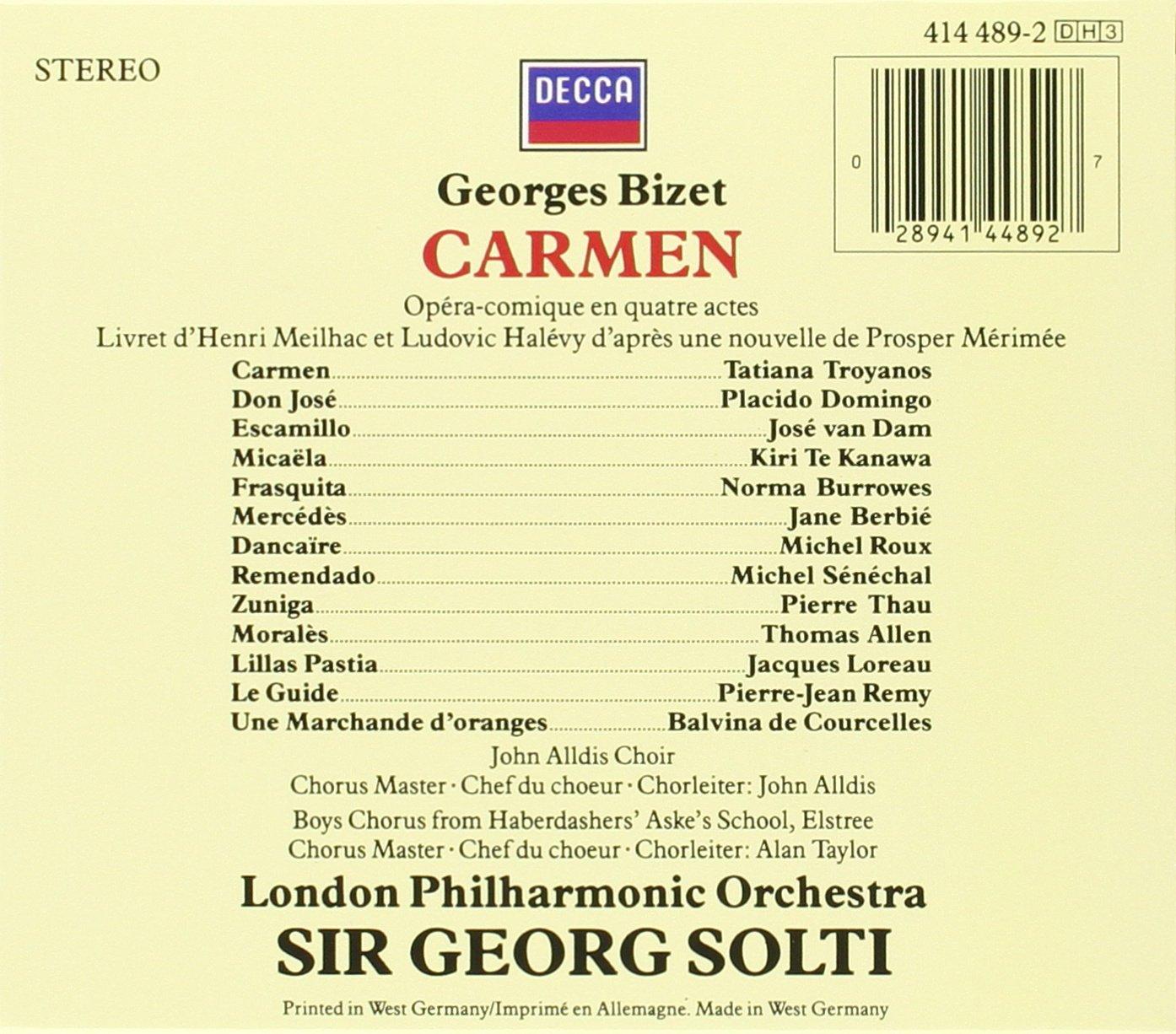 Bizet: Carmen by London