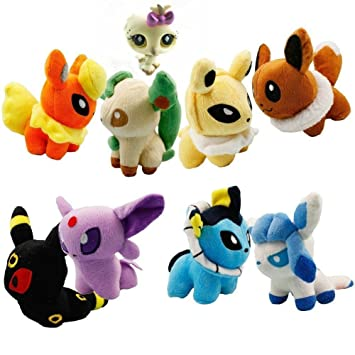 POKEMON PLATINUM - SET 8 PELUCHES 15cm / 8 PLUSH TOYS SET ...
