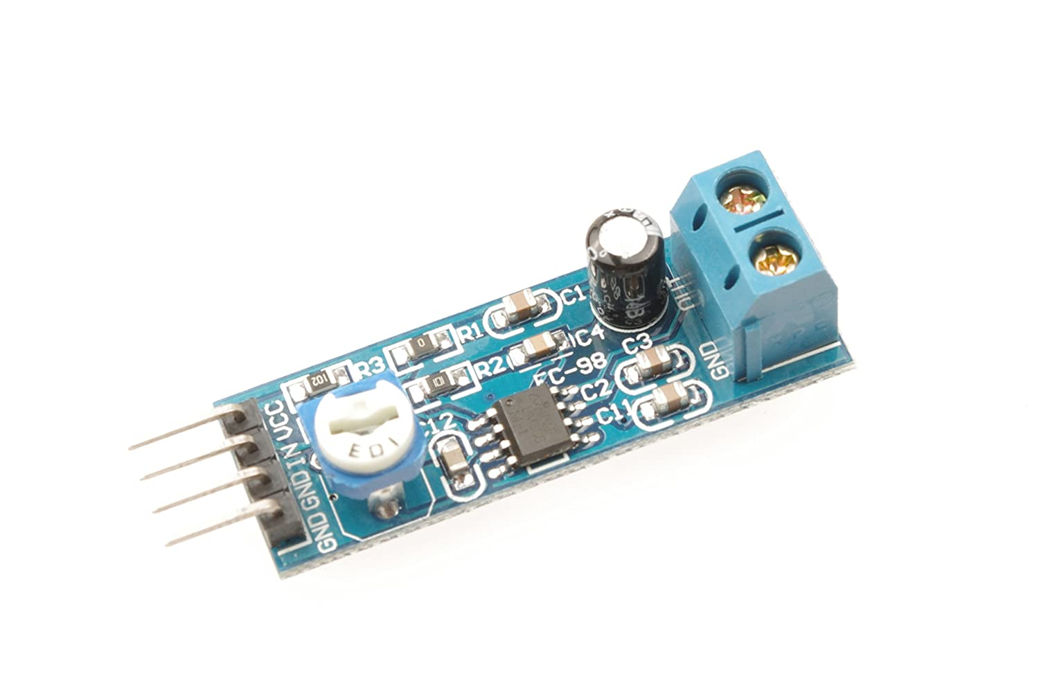 Uxcell Lm386 Audio Amplifier Module 200 Times 5 12v 10k Working Operation Of Ic Adjustable Resistance Car Electronics