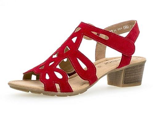ac65dae3afe74 Gabor 24.561 Women,Summer Shoes,Open Heel Shoes,high Heel,Feminine,