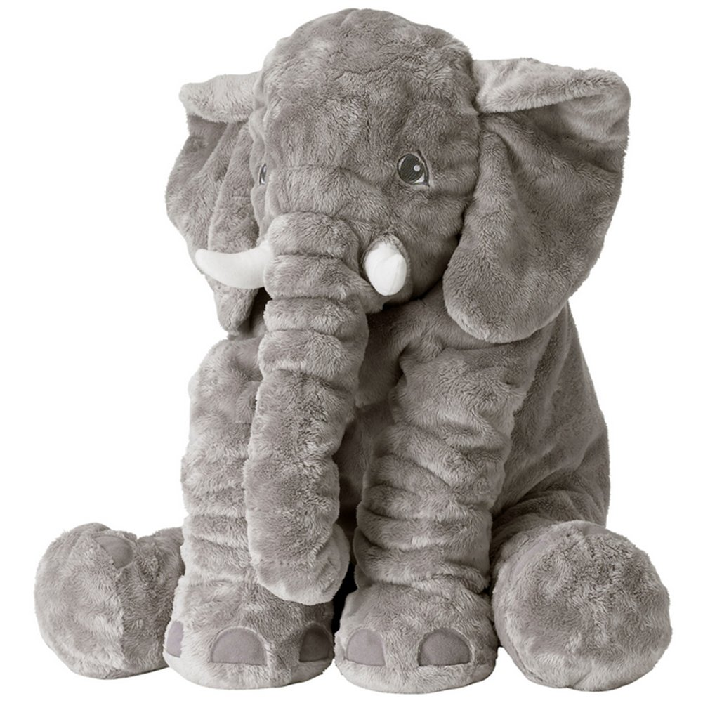Vercart Cute Elephant Cuddly Hugging Pillow Stuffed Animals Plush Soft Toy Pillow Gray 24 Inches