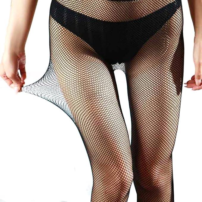 12d8e7f31184a Fishnet Stockings for Women Teen Girls, EASILK Sexy Seamless Net Pantyhose  Tights,Black,