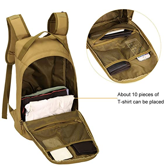 47ebc3839f3d Amazon.com : OASIS LAND 25L Backpack 1000D Nylon Hiking Bicycle ...