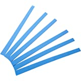 ROLLING HERO Pie Dough Thickness guides - Silicone Pastry Rails or Perfection Strips Set for Even Thickness Cookies and Pie Dough (6, Blue)