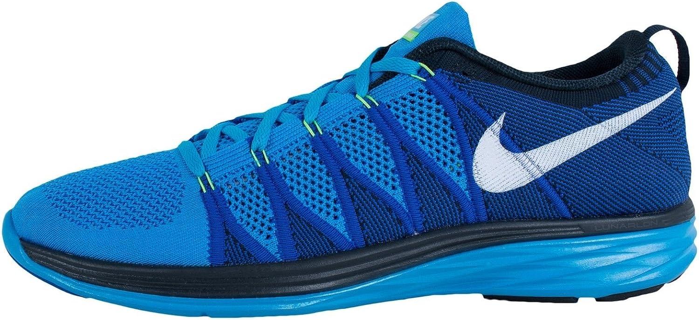 amenazar Salón horno  Amazon.com: Zapatilla de Running Nike Flyknit Lunar 2 de los hombres, Azul:  Shoes