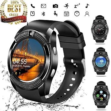 YIMAN - Reloj Inteligente con Pantalla táctil y Bluetooth con ...