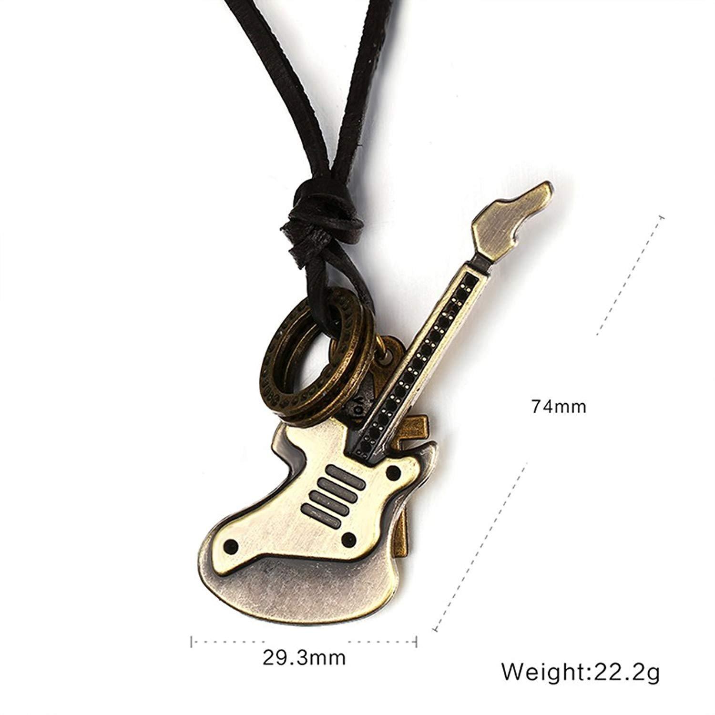 Randell Colgante de Collar de Latón Antiguo Retro Guitarra Encanto ...