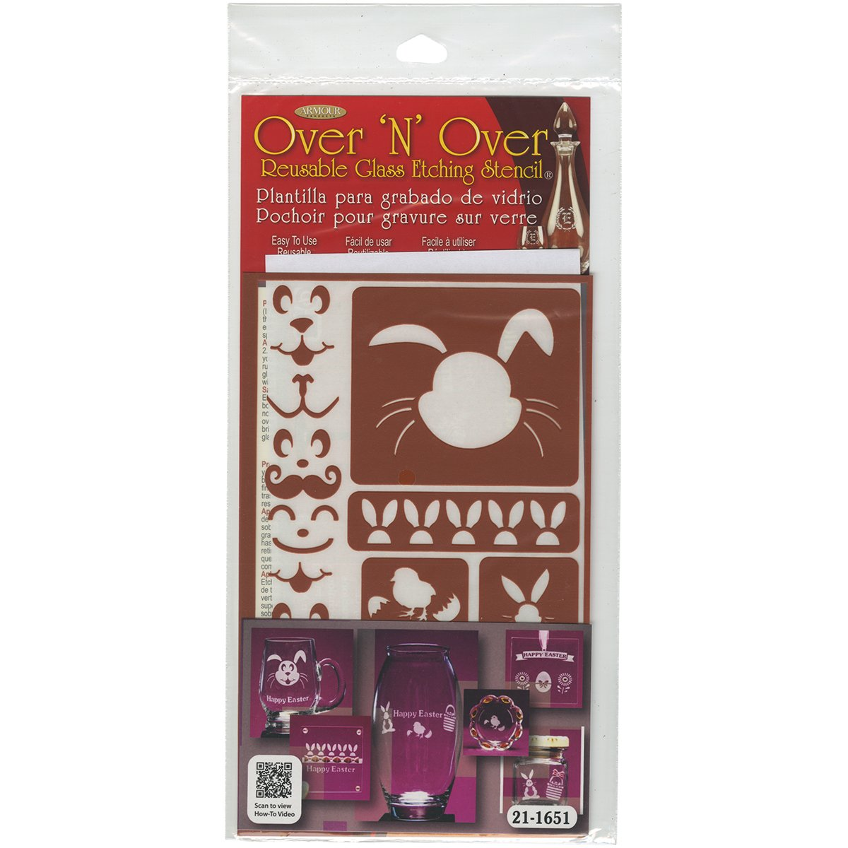Over 'N' Over Reusable Stencils 5X8-Easter Armour Products