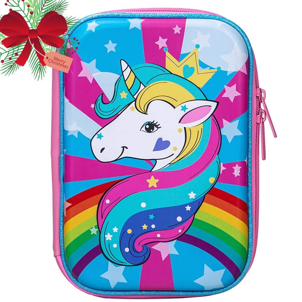 Unicorn Pencil Box for Girls, Kids Cute Pencil Case