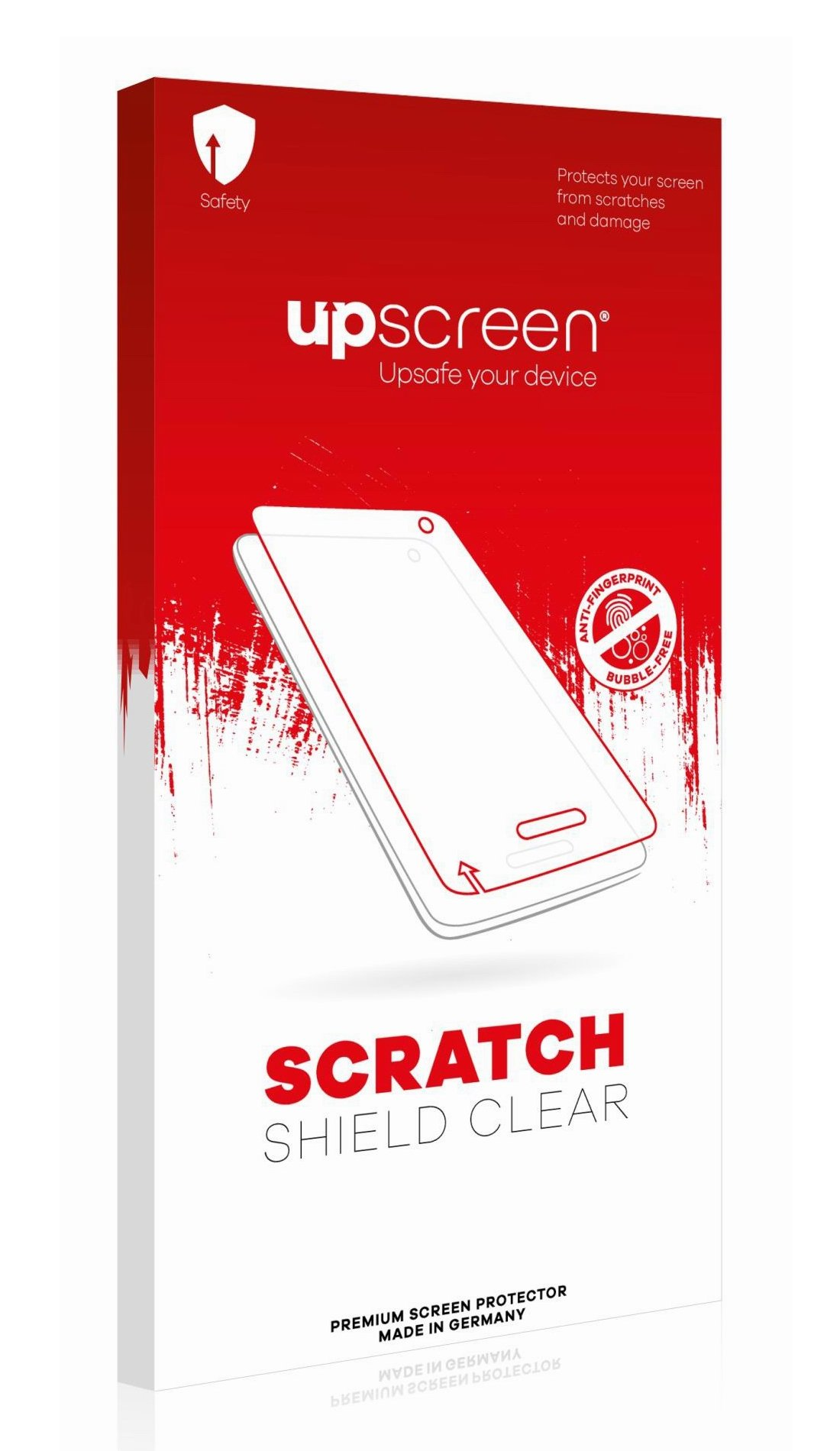 upscreen Scratch Shield Clear Screen Protector for Motion Computing F5m, Strong Scratch Protection, High Transparency, Multitouch optimized