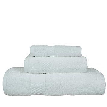 Hotel de lujo y Spa toalla de algodón turco y toalla de bambú rayón Bundle 3 ...