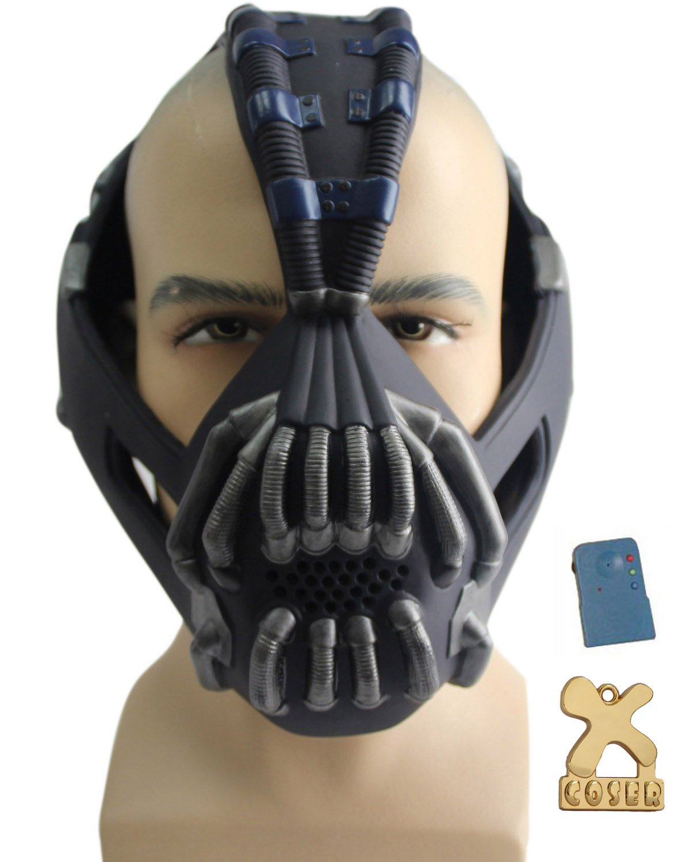 Amazon.com: Xcoser Bane Mask with Voice Changer Gun Color Version ...