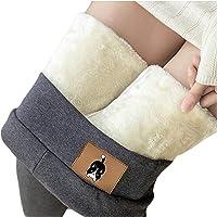 N/ Térmico Leggings de Cintura Alta para Mujer,Pantalones de cachemira de lana de terciopelo grueso ajustado Pantalones…